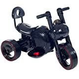 Fun, Sleek LED Space Traveler Trike in Black With Lights and Sounds - For 18 Months to 4 Years