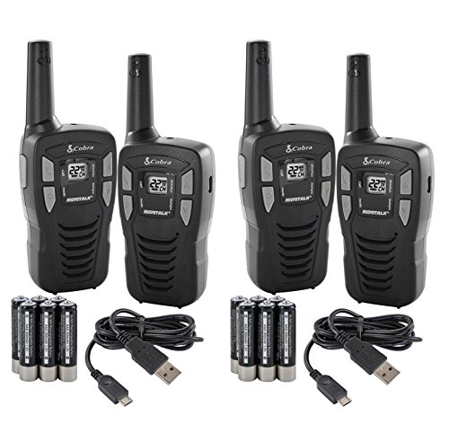 NEW! (4) COBRA CXT145 MicroTalk 16 Mile 22 Channel Walkie Talkie 2 Way Radios