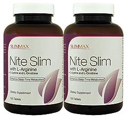 SlimMax Nite Slim with L-Arginine 120 tablets (Pack of 2)