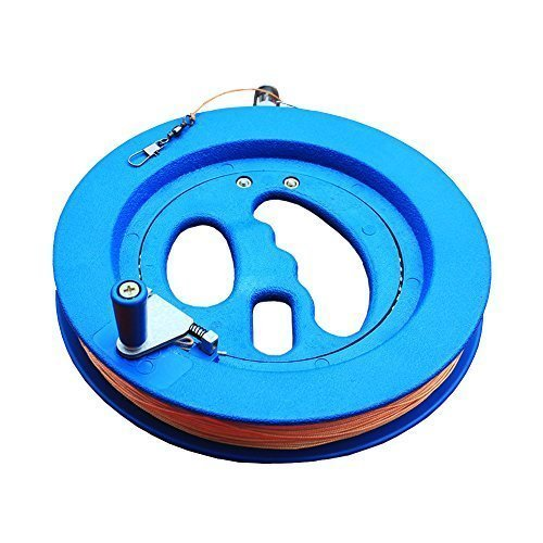 Flying Lines - Hengda Kite Professional Outdoor Kite Line Winder Winding Reel Grip Wheel with flying Line String Flying Tools With Lock-Blue