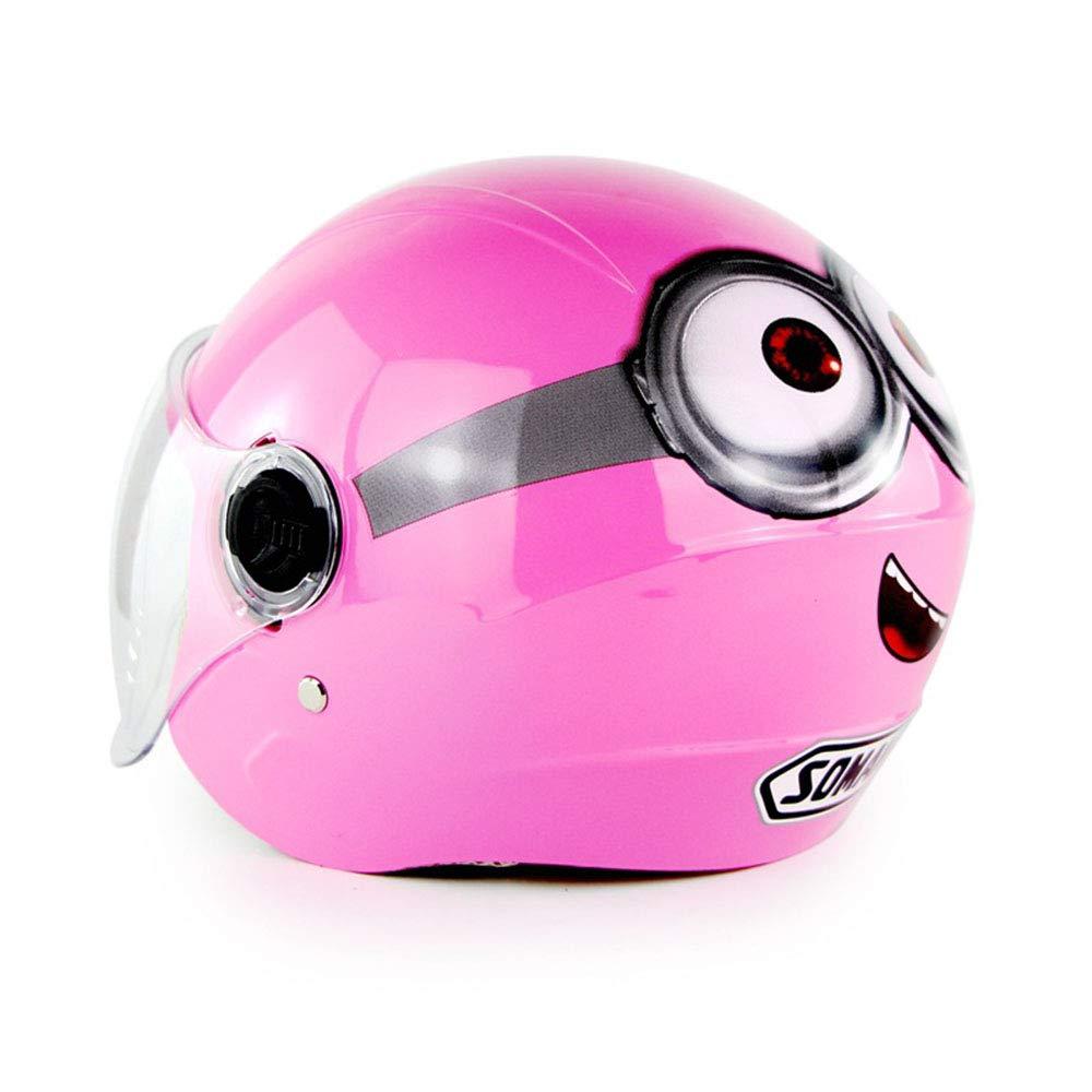 5-14 Jahre alt JL-QY Kinder motorradhelm Cartoon Kinder Roller Skating reiten Balance Half Helm Kinder Outdoor Sports Helm geeignet ,A