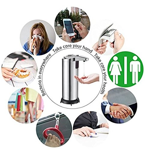 Spa Fitness Essentials Stainless Steel Smart Sensor countertop soap Dispenser for Kitchen and Bathroom by Spa Fitness Essentials (Image #6)