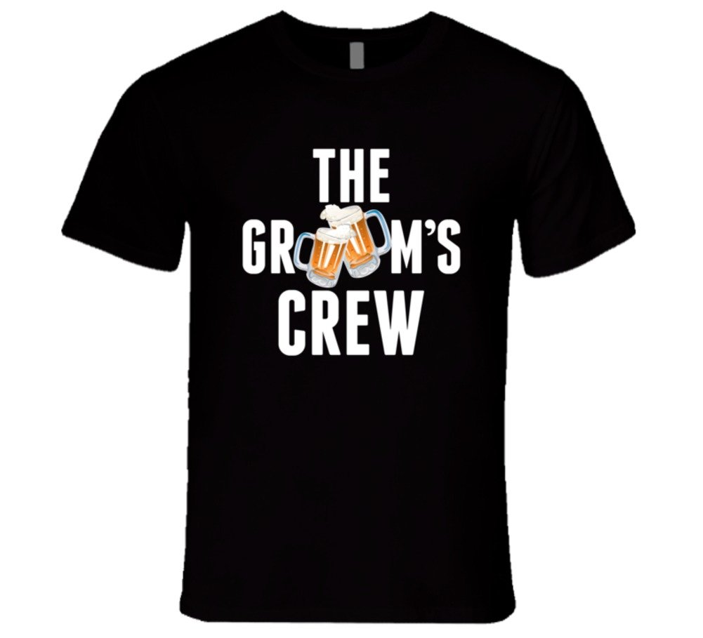 Bachelor Party Grooms Crew Shirt Funny Groomsmen Wedding Gift L Black