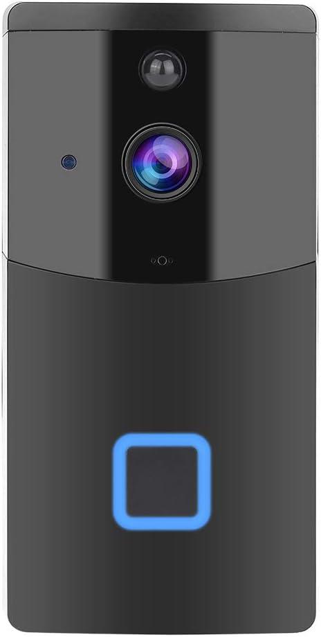 Sonnette Sans Fil Angle de Vue 166 /° Syst/ème de S/écurit/é pour Stockage de M/émoire Support 32G Max Conversation Bidirectionnelle et Vid/éo en Temps R/éel Vision Nocturne 720P HD Smart Sonnette WiFi