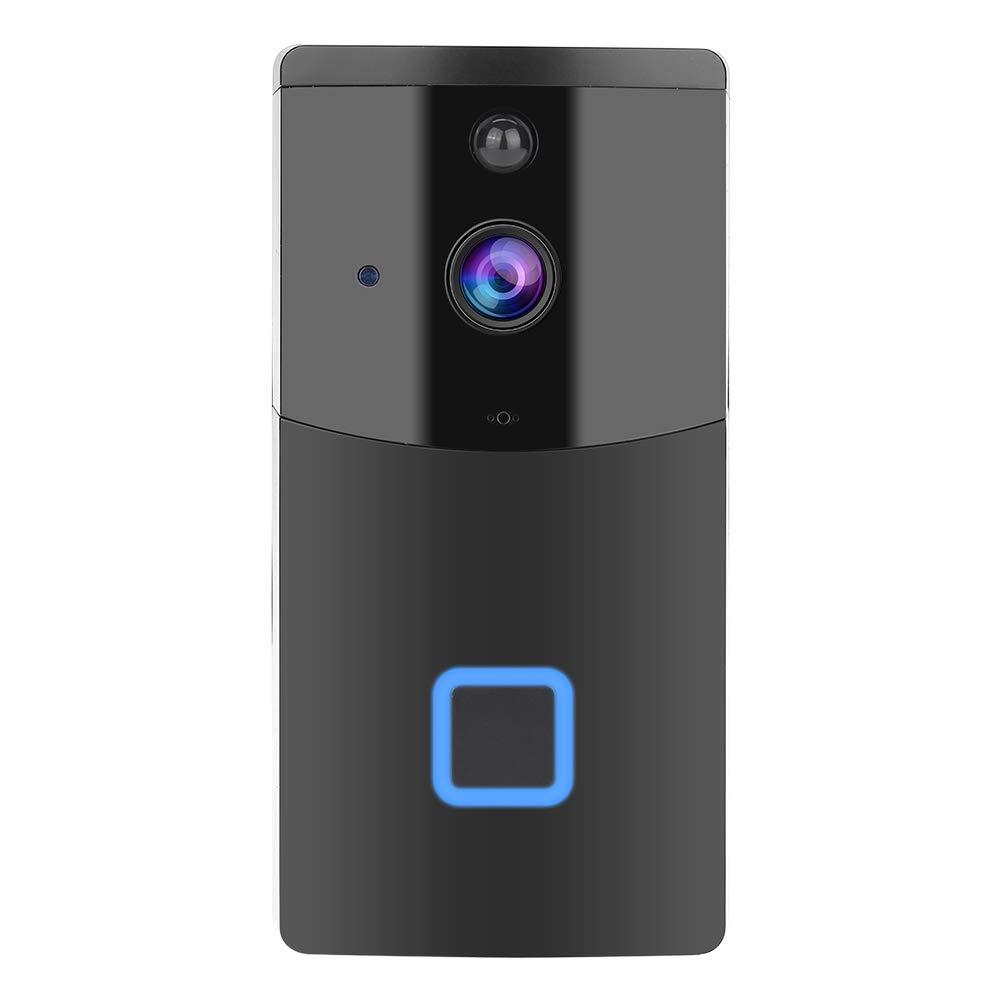 Garsent WiFi Video Türklingel, 720P HD Doorbell Funklingel mit mit Zwei-Wege-Audio-Motion-Sensor und Infrarot Nachtsicht für IOS Und Android-Smartphones