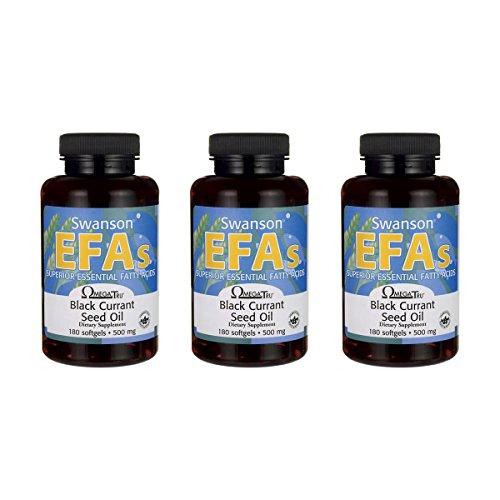 Swanson Black Currant Seed Oil Gla (Omegatru) 180 Sgels 3 Pack by Swanson