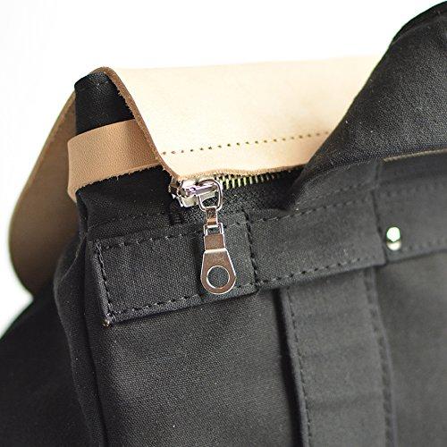 Sac amp; à Max Bordeaux Imperméable amp; Femme Caro Noir Beige dos Beige Cuir Bandoulière amp; Personnalisable Noir Coton F1qwEdw