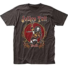 Impact Originals Jethro Tull British Rock Band Music Group Tour '75 Adult Fitted Jersey T-Shirt