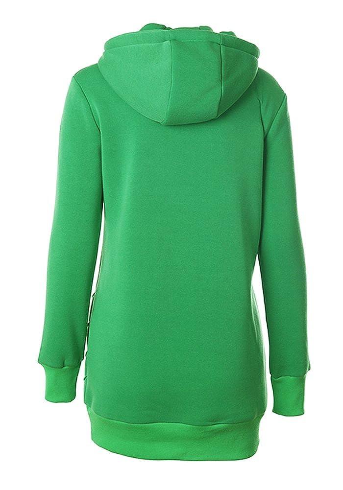 DOOXIYOUNG Womens Long Sleeve Raglan Crewneck Tunic Sweatshirt Hoodie