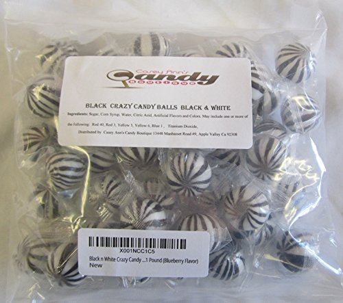 Black n White Crazy Candy Balls 1 Pound (Blueberry Flavor)]()