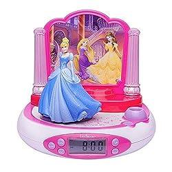LEXiBOOK RP510DP Disney Princess Projector Radio Alarm Clock