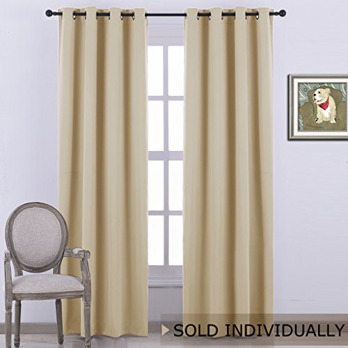 NICETOWN Room Darkening Curtain Blind - Modern Design Light Reducing & Privacy Protection Short Window Drape/Drapery for Kid's Room, 52x95-Inch, 1 - Blinds Design
