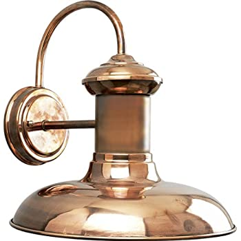Progress Lighting P5723-14 1-Light Wall Lantern, Copper