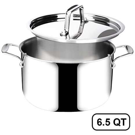 Duxtop Whole-Clad Tri-Ply Stainless Steel Stir-Fry Pan Kitchen Induction Cookware 8 Inches