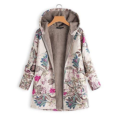 - Modern Style 2019 Outerwear Thicken Warm Print Full Sleeve Hooded Casual All-Match Fleece Femme Coats Plus Size 4XL 5XL Rose 4XL