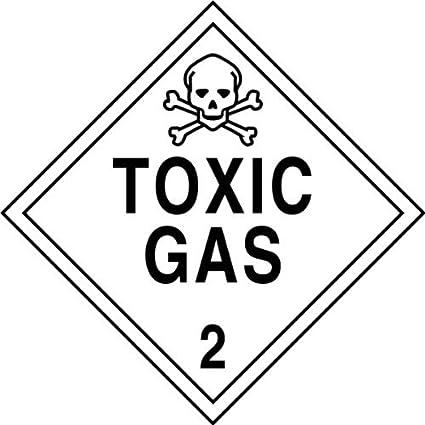 Salute e sicurezza pericolo Adesivo gas tossici 2 adesivo bianco