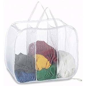Amazon Com Deluxe Laundry Hamper Pop Open Sorter Colors