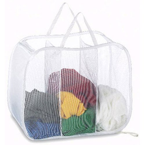 Deluxe Laundry Sorter - Deluxe Laundry Hamper - Pop Open Sorter Colors Vary