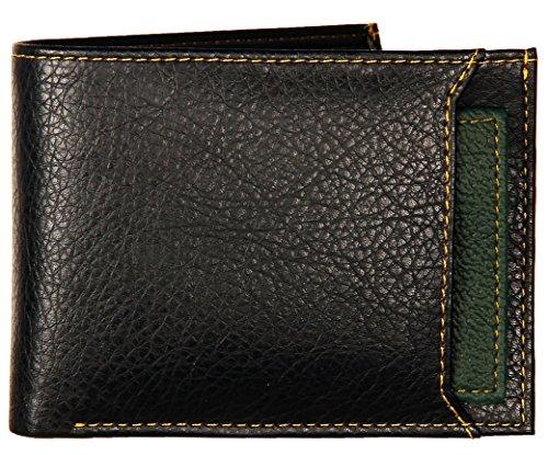 K London Men's Wallet Black & Green-1420_green