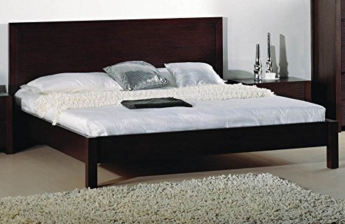 Beverly Hills Furniture Etch Bed in Wenge Finish (Full)