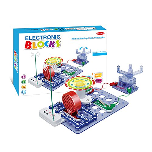 Bable Buckles Circuits System Toys Science Experiments Kids Electronics Discovery Kit Manual Electrical Generator - 500 Projects