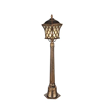Lexluy Traditional Outdoor Garden Lamp Post Lantern Light Courtyard  Landscape Patio Gate Decoration Waterproof Post Single