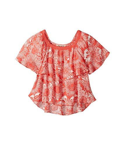 Billabong Kids Girl's Butterfly Kiss Top (Little Kids/Big Kids) Vintage Coral XX-Small