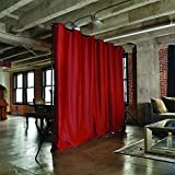 Product review for RoomDividersNow Premium Heavyweight Freestanding Room Divider Kit - Small B, 9ft Tall x 7ft - 12ft 6in Wide (Sierra Red)
