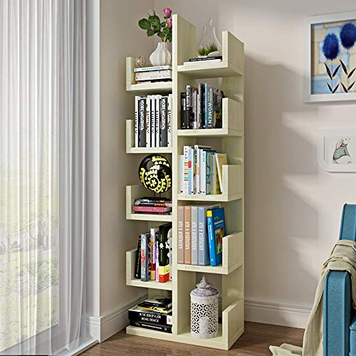 Tv Corner Maple Stand (Shelves MEIDUO 10- Tire Shelf Bookshelf Wood Bookshelf Bookcase Stand Shelf for Living Room or Hallway Plant Shelf Flower Stand (Color : Maple))