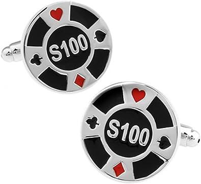 Poker Chip Gemelos en una caja de presentación de lujo. Casino ...