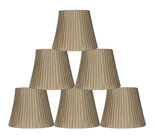 Urbanest Box Pleated Mini Chandelier Lamp Shade, Gold, 3x6x5