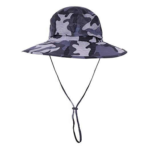754cdc29f5a Anyoo Outdoor Boonie Hat Breathable Wide Brim Summer Sun Cap UV Protection  Fishing Camouflage Hat