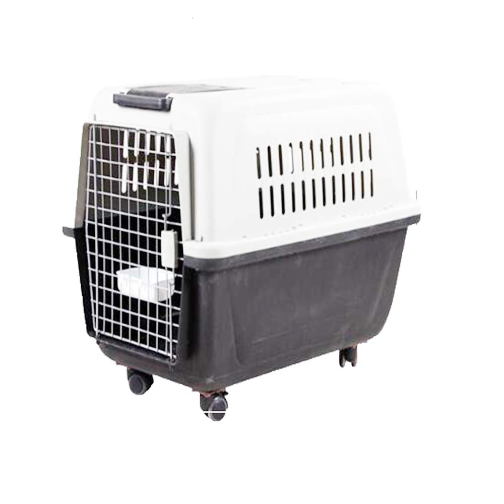Grey L Grey L MOIMK Pet Cat Kitten Dog Rabbit Carrier Kennel Foldable Travel Transport Cage Vet, Cat And Dog Consignment Cage Aircraft Cage Consignment Box