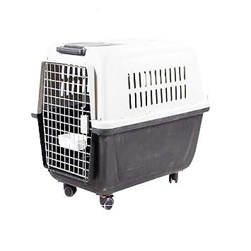 MOIMK Mascota Gato Gatito Perro Conejo Portador Perrera Transporte De Viaje Plegable Veterinario En Jaula,