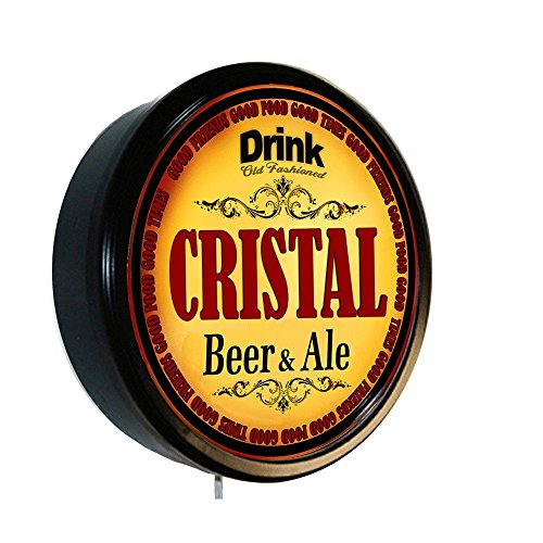 CRISTAL Beer and Ale Cerveza Lighted Wall Sign - Lighting Cristal Wall