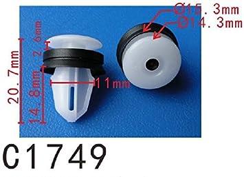 for Mazda #G18K-51-SJ3 Pack of 20 Door Panel Trim Retainer Clip with Sealer