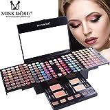 Ourhomer Miss Rose Waterproof Lasting Makeup Lip Long Lasting 180 Color Waterproof Eye Shadow Set (A)