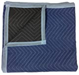 Moving Blankets - Pro Quality - 72 x 80 Inches - Blue & Black - by Cheap Cheap Moving Boxes