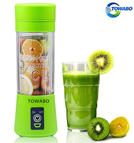Great Features Of TOWABO USB Juicer Cup, Fruit Mixing Machine, Portable Personal Size Electric Recha...
