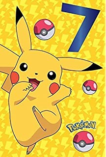 Pokemon 7th Birthday Card Pikachu
