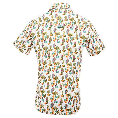 Claudio Lugli Men's Cactus Print Fashion Luxury Cotton Short Sleeve Summer Casual Shirt CP6407 2xlarge Multi by Claudio Lugli (Image #1)