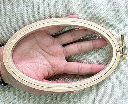Cross Stitch Hoop Stitchery Hoop WRMHOM 6.33.95 Inch Oval Wooden Embroidery Hoop 1610cm Oval Hand Stitching Hoop Framing Hoop 1PC Craft Supply Hoop