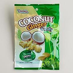 Dandy\'s Coconut Ginger Hard Candy, Set of 4(3.52 oz)