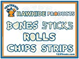 123 Treats - Rawhide Chips for Dogs