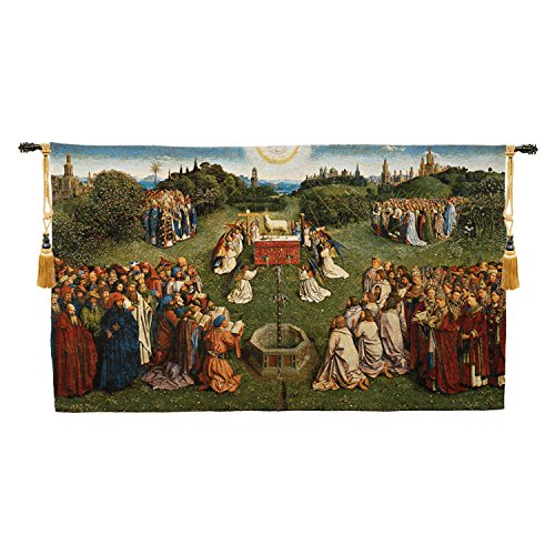 Adoration of the Mystic Lamb European Wallhanging by Charlotte Home Furnishings Inc.