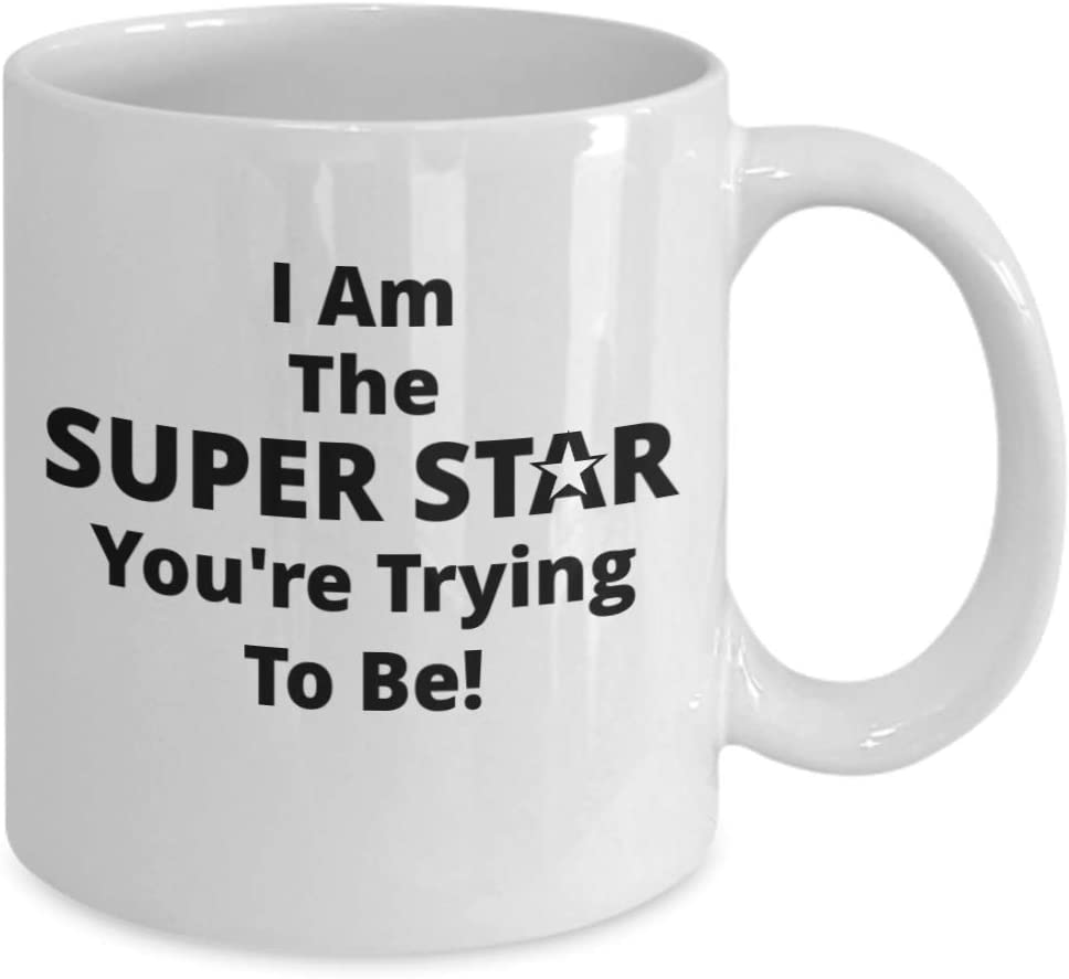 I Am the Super Star Youre Trying To Be Funny Novelty Gift 11oz Coffee Mug!