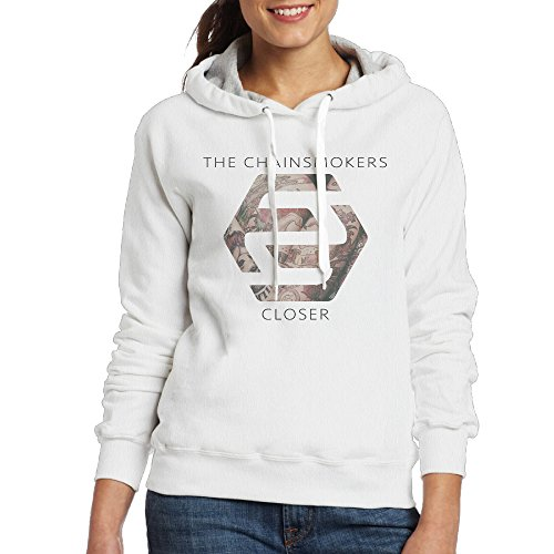 Price comparison product image Bro-Custom Closer The Chainsmokers Hood For Women Size L White