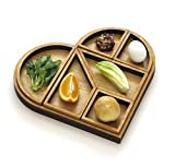 Handmade Passover Seder plate, Wooden Heart Tangram Pessach Decoration + Matzoh Tray, Modern Pesach Night Hostess Gift from Israel