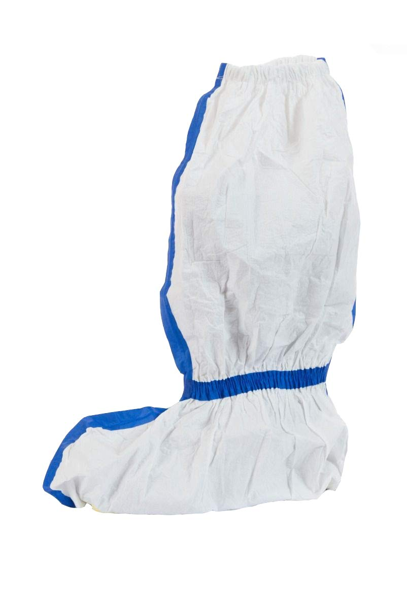 ViroGuard 1 Boot Covers (White) with Taped Seams, Elastic Closure, and Skid Resistant Sole (23'', Case of 100)