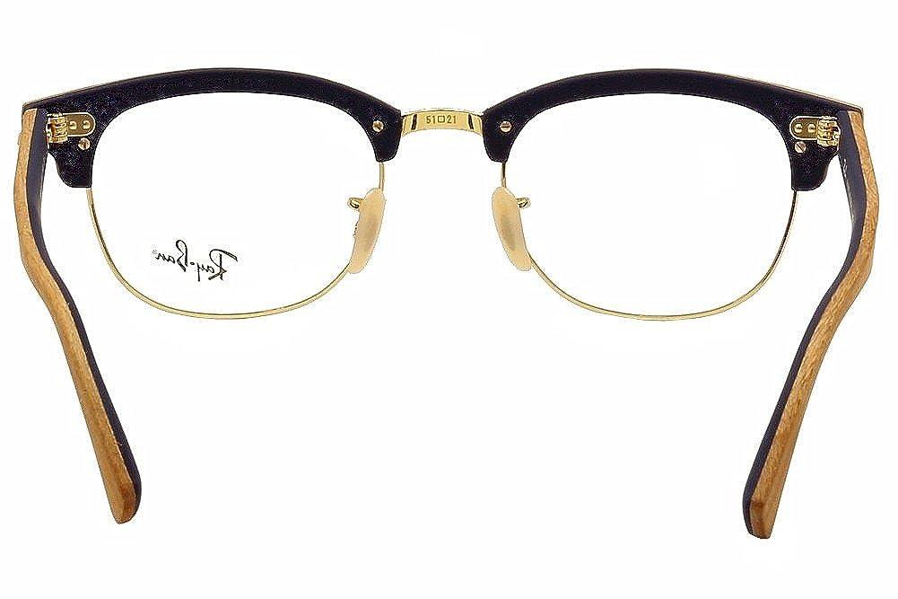 60ba1f0c21 Amazon.com  Eyeglasses Ray-Ban Optical RX 5154M 5559 CHERRY RUBBER BLUE   Clothing